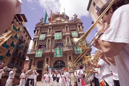 clubs parade san fermin festival and