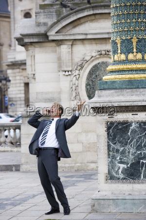 business man on phone paris france