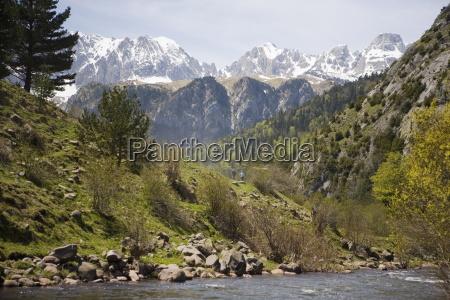 pyrenees mountains near jaca aragon spain