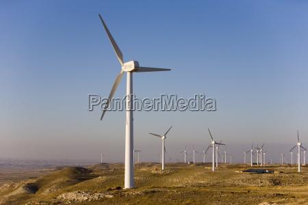wind farm la muela zaragoza aragon