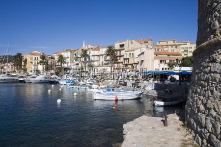 calvi harbour corsica france mediterranean europe