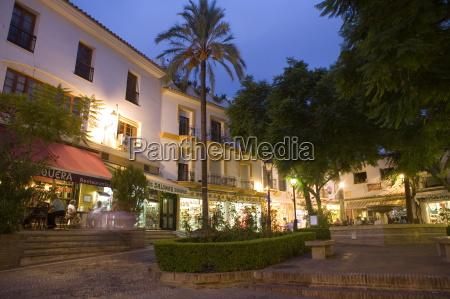 old town marbella malaga andalucia spain