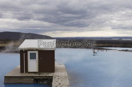 geothermal hot spring reykjahlid iceland polar