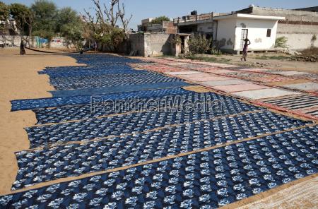 newly ajhrak indigo block printed lengths