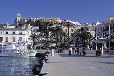 harbour ibiza balearic islands spain mediterranean