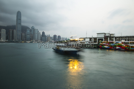 hong kong island and ferry from