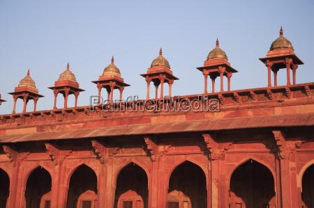 detail of inner courtyard of jama
