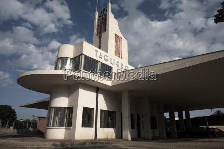 the futuristic fiat tagliero building asmara