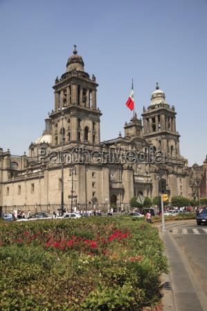 metropolitan cathedral zocalo mexico city mexico