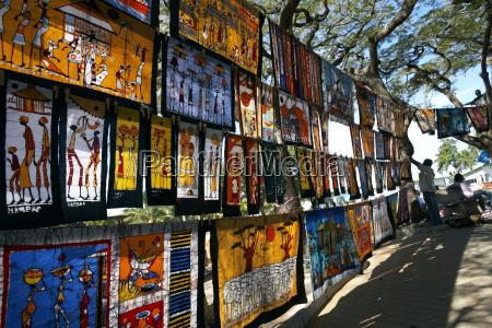 paseo viaje arte africa mercado horizontalmente