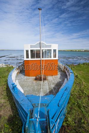fishing boat orkney islands scotland united