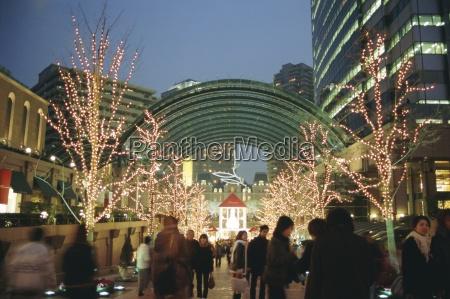 weihnachtsbeleuchtung ebisu tokio japan