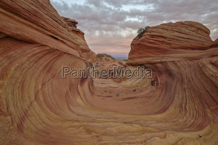 red and yellow sandstone wave channel