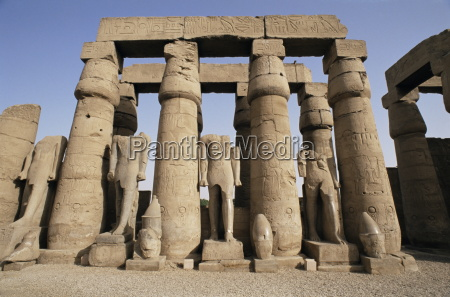osiris statues and colonnade luxor temple