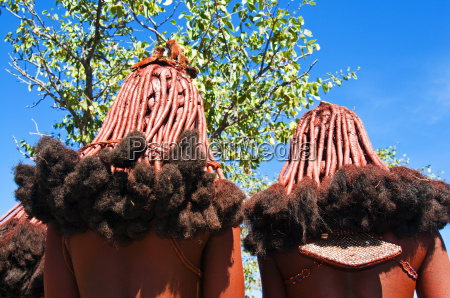 frisur der himba frauen kaokoveld namibia