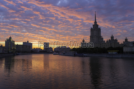 moskva river and hotel ukraine one