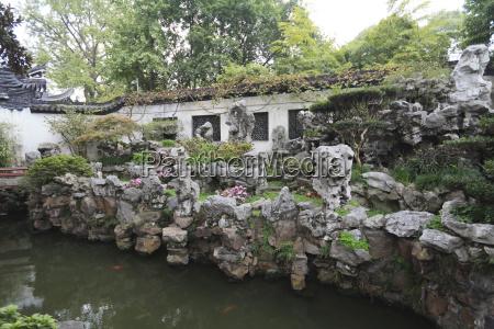 rockery yu yuan yuyuan giardini shanghai