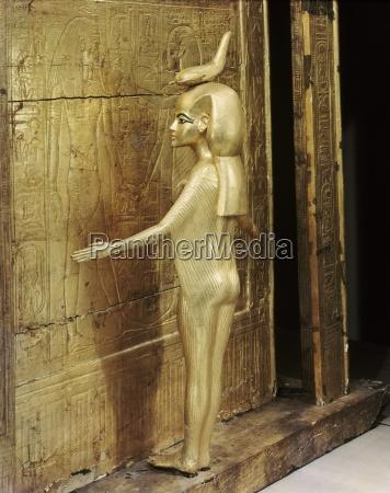 statue der gttin serket die kanopenschrein