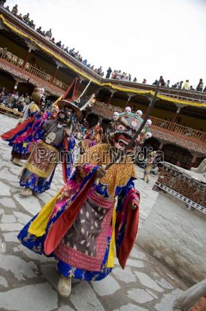 hemis festival lama dancing ladakh india