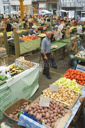 fruit and vegetable market sarajevo bosnia