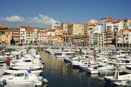 old town harbour bermeo basque country
