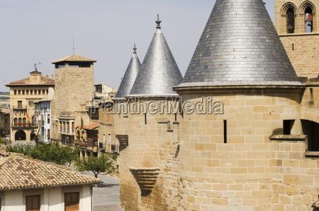 medieval old town olite navarra euskadi