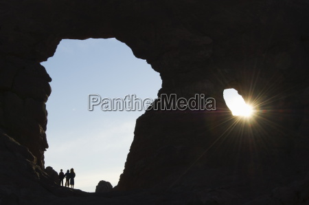 children exploring south arch in the
