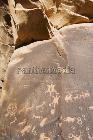newspaper rock a petroglyph panel etched