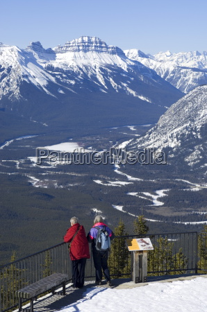 two women and the bow valley