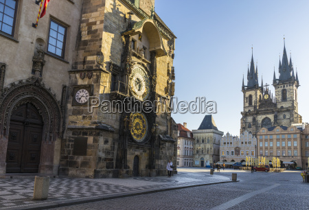 astronomical clock and old town hall