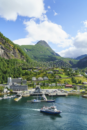 the village of geiranger is an