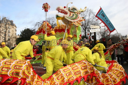 chinese new year paris france europe