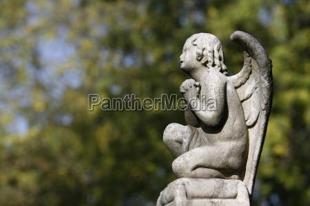 engelsskulptur, auf, dem, friedhof, von, pere - 20757321
