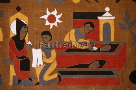 tapestry in saint pierre de solesmes