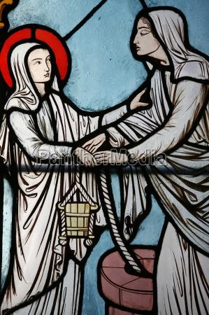 glasmalereifenster, von, alfred, gerente, zeigt, das - 20758521
