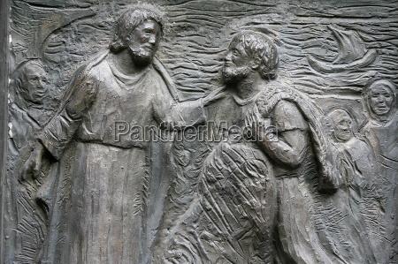 skulptur, der, berufung, des, hl., petrus - 20758391
