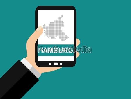 hamburg auf dem smartphone