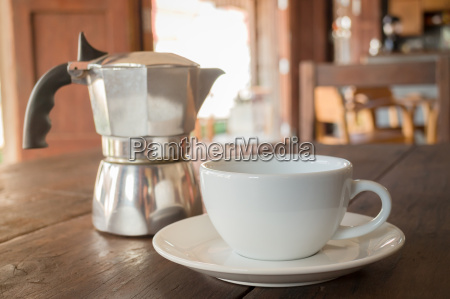 homemade hot cup of coffee