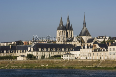 view across the river loire to