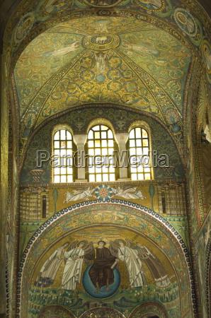 an interior showing extensive mosaic work