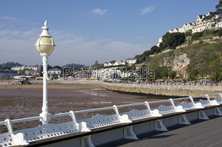 torquay beach at low tide from