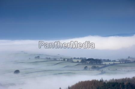 blau farbe winter wolke feld europid