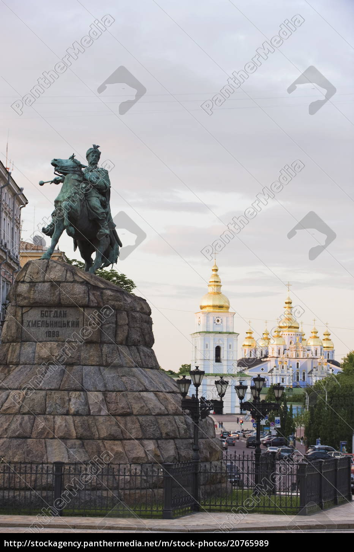 bohdan, khmelnytsky, statue, , and, st., michaels - 20765989