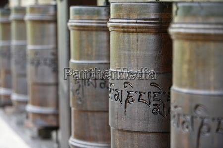 prayer wheels in dhagpo kagyu ling