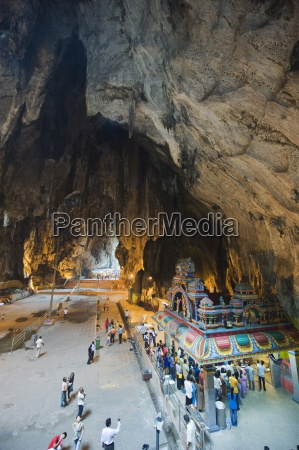 hindu shrine in temple cave at
