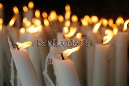 candles at the lourdes shrine lourdes