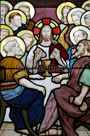glasmalerei, das, das, letzte, abendmahl, in, saint-honor - 20767257