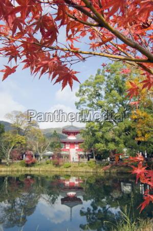 pagoda on osawa pond daikaku ji