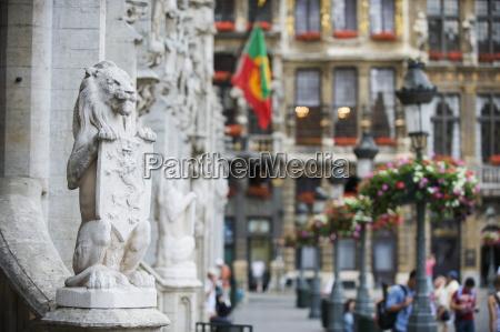lion statue on the hotel de