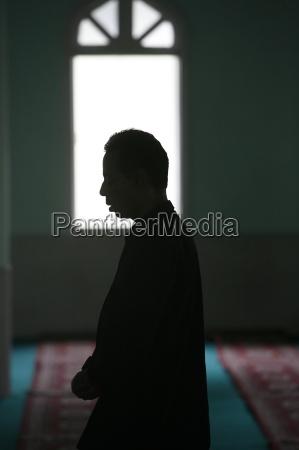 muslim im gebet kathmandu nepal asien